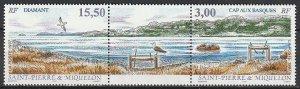1997 St. Pierre and Miquelon - Sc 641a - MNH VF - 1 pr - Bay, Headlands
