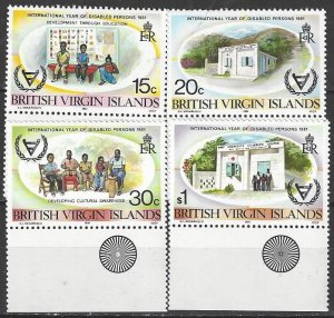 British Virgin Islands  413-6  MNH  Year of Disabled