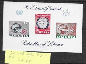 Liberia #C131 - See Note After MNH - Souvenir Sheet - CAT VALUE $8.00