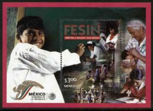 MEXICO 2246, Fund for Indigenous People Education. Souvenir Sheet. MINT, NH. FVF