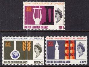 Solomon Islands 171-173 UNESCO MNH VF