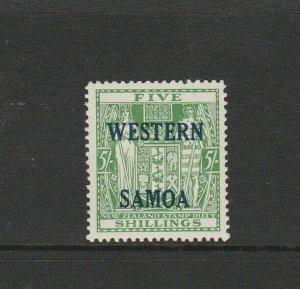 Samoa 1955 Opts on Arms 5/- MM SG 232