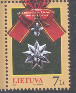 Lithuania Sc 957 2011 Grand Cross for Merit stamp mint NH