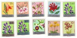 Rwanda #13-22 flowers MH complete