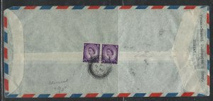 MUSCAT  COVER (PP1304BB) 1952 GB QEII  13A/3D PR A/M  COVER MUSCAT TO UK