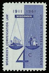 1186 Workman's Compensation Law F-VF MNH single