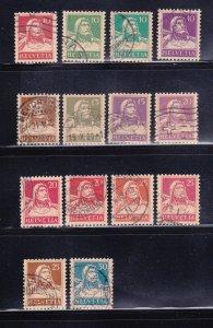 Switzerland 167-172, 174-180 U William Tell (B)