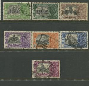 STAMP STATION PERTH India #142-148KGV Jubilee Issue Used CV$14.00.