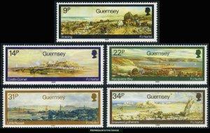 Guernsey Scott 320-324 Mint never hinged.