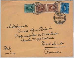 EGYPT -  POSTAL HISTORY:  COVER to ITALY 1935