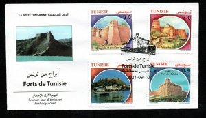 2021- Tunisia - Tunisie - Forts from Tunisia - Castles- Chateaux- FDC