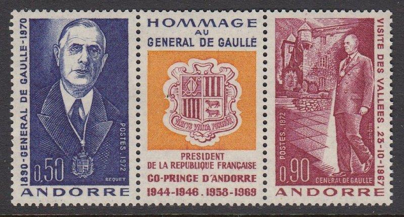 Andorra 218a De Gaulle mnh