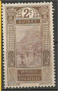 FRENCH GUINEA, 1913, MH 2c Ford at Kitim Scott 64