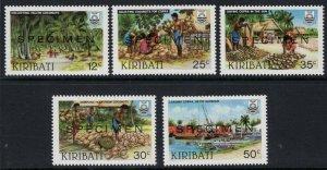 KIRIBATI SG205/9s 1983 COPRA INDUSTRY SPECIMEN MNH