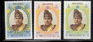 Malaysia Kelantan Scott 112-114 MNH** 1980 Sultan set
