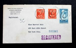 US Registered 1941 Cover with Sc# 744 and 811.