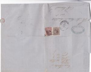 Spain 19th centuary stamps cover Ref 8330