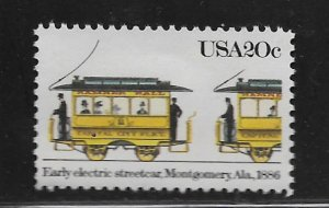 UNITED STATES, 2060, MNH, ELECTRIC STREETCAR