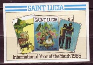 St. Lucia MNH S/S 795 International Youth Year Abstracts Art 1985