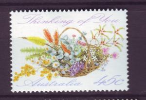 J12327 JL stamps 1992 australia mh set of 1 #1234 flowers