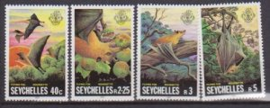 1981 Seychelles # 479-482 MNH Flying Foxes
