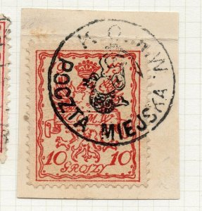 Poland Warsaw 1915 Early Issue Fine Used 10gr. Postmark NW-14467