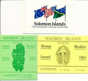 Solomon Islands 3 MUH Booklets. Pristine condition.