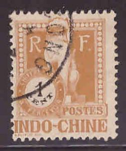 French Indo-China Scott J33 Used 1922 Angkor Wat Postage due