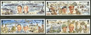 ISLE OF MAN 600-607 1994 D-Day 50th Anniversary WWII Complete Set OG Mint NH