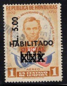 Honduras  Scott C1198  Used surcharged overprinted Airmail