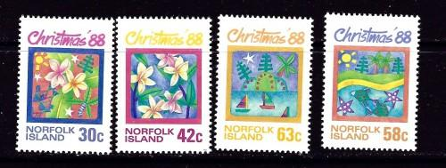 Norfolk Is 440-43 NH 1988 Christmas