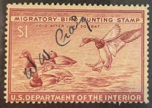 US Stamps #RW13 Used Federal Ducks #RW13A149