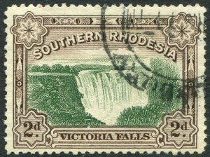 SOUTHERN RHODESIA-1941 2d Green & Chocolate Perf 12½ Sg 35 FINE USED V48916