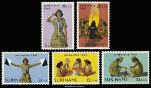Surinam Scott B80-B84 Mint never hinged.