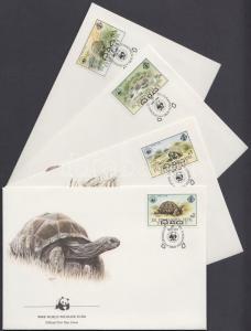 Seychelles-Zil Elwannyen Sesel stamp WWF Giant Tortoise Cover 1985 WS163398