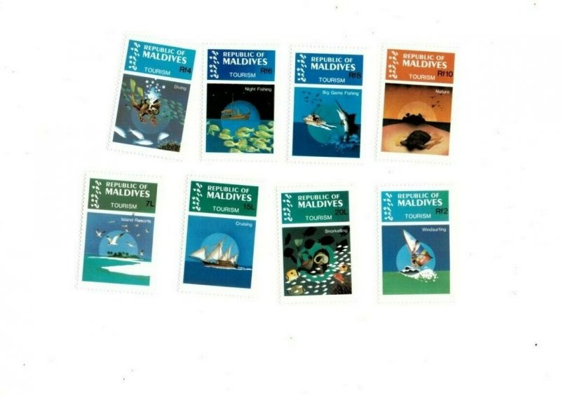 Maldives MNH 1023-30 Tourism MUST SEE!!!!