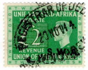 (I.B) South-West Africa Revenue : Duty Stamp £2
