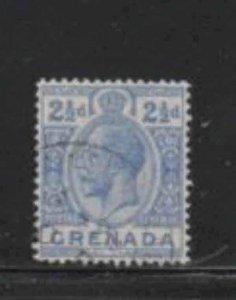 GRENADA #97  1913  2 1/2p  KING GEORGE V       F-VF  USED