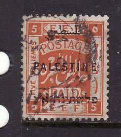 Palestine-Sc#52-used 5m orange-1922-