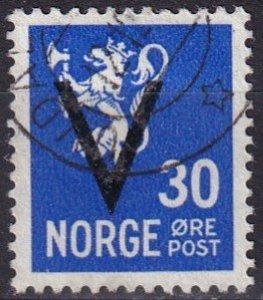 Norway #215  F-VF Used  CV $4.50  (Z8088)
