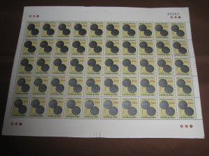 Portuguese India 1959 $3 Ancient Coins Sc 610 1v Full Sheet of 50 Stamps MINT #