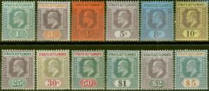 Straits Settlements 1902-03 set of 12 SG110-121 Fine & Fresh Lightly Mtd Mint