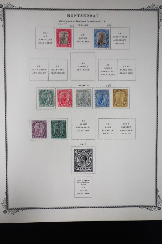 Montserrat 1800s to 1970s Stamp Collection