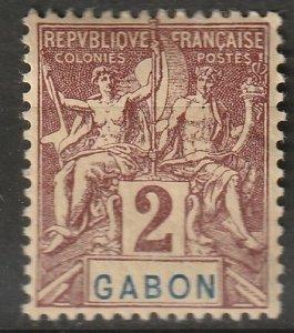 Gabon 1904 Sc 17 MH*