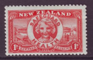 J22095 Jlstamps 1936 new zealand set of 1 mh #b11 child