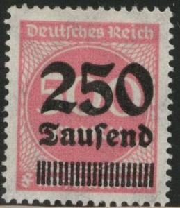 Germany Scott 259 MH* 1920's surcharged inflation period stamp