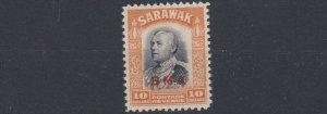 SARAWAK  1945  S G 145  $10  BLACK & YELLOW  MNH  CAT £225