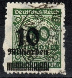 Germany #321 F-VF Used  CV $37.50 (X6644)