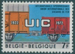 Belgium 1972 SG2274 7f UIC railway carriages MNH