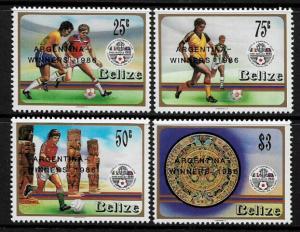 Belize #828-31 MNH Set - World Cup Soccer